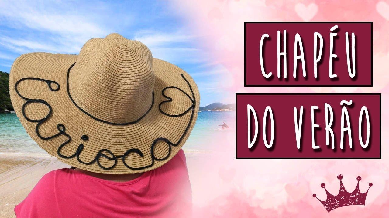 DIY  Chapéu bordado com o nome - FÁCIL e BARATO. - YouTube 8a3ae7d7ead