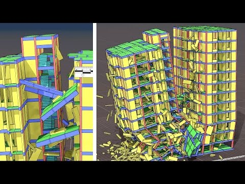 Collapse Simulation 11-Storey Building, Prime Trust Heights, Moulivakkam, Chennai, India