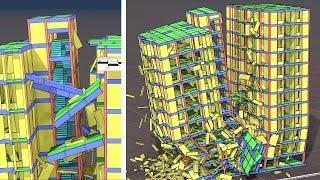 Lightning Hit Collapse, 11-Storey Building Simulation, Prime Trust Heights, Moulivakkam, Chennai