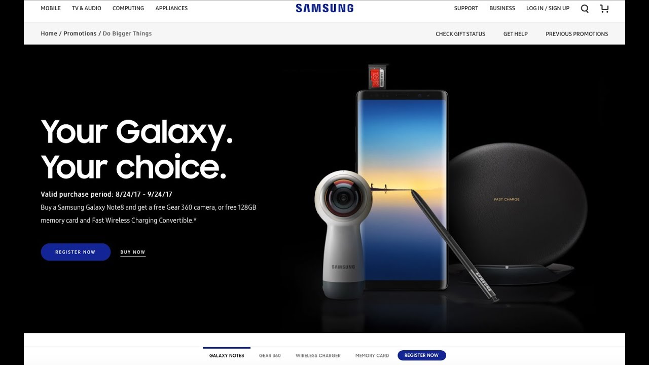 how to register for samsung galaxy note 8 promotion youtube