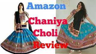 Amazon lehenga review || amazon online shopping haul and review || Navratri special video 4