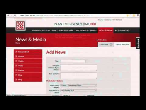 How to upload a news story - video tutorial