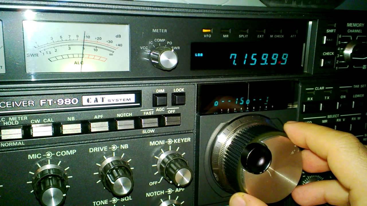 Yaesu FT-980 ricezione SSB in 40metri. 40 meters SSB reception. - YouTube