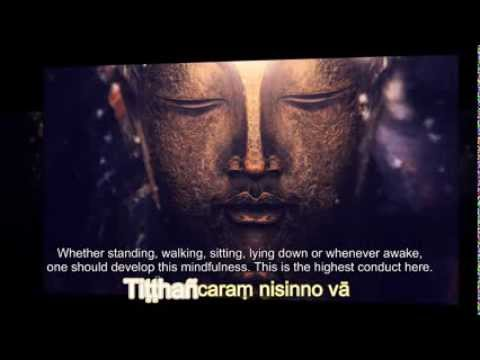 Karaniya Metta Sutta - Loving Kindness (Pali Karaoke + English Meaning)