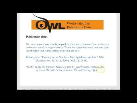 MLA Works-Cited OWL