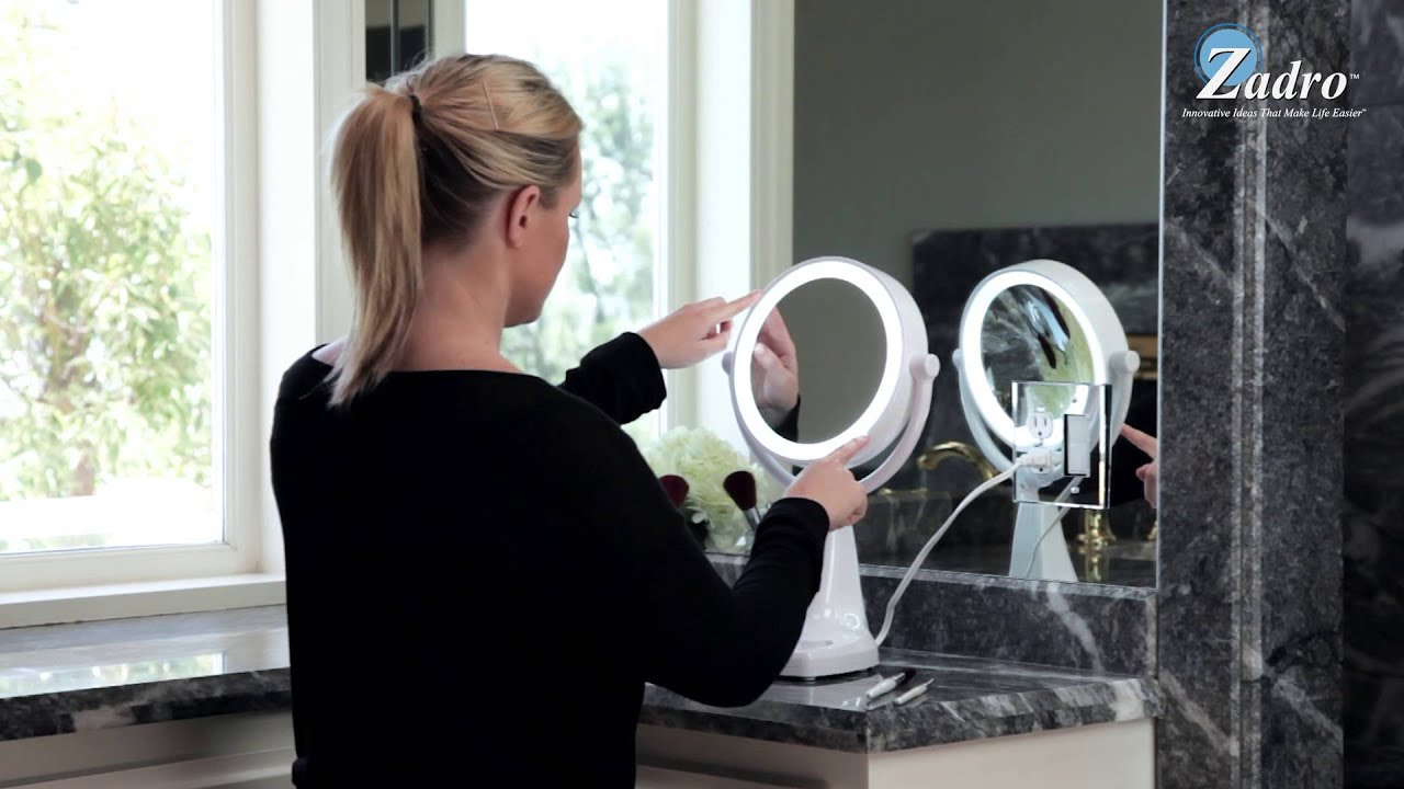 Max Bright Sunlight Vanity Mirror 1x 10x Model Max110 Zadro Beauty S