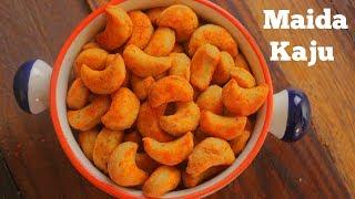 MAIDA KAJU | Easy Simple Cashew Shaped Snack | Masala Maida Kaju | By Chef Heera