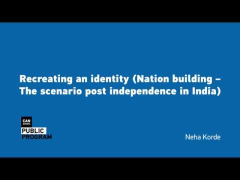 "Lecture ""Recreating an identity"" by Neha Korde"