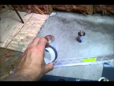 How To Modify Linear Drain For Use With Rubber Waterproofing Shower Liner  PVC Clamping Ring