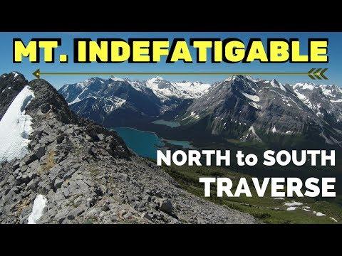 Mt. Indefatigable Scramble, Kananaskis (HD) North to south summit video. Explore Alberta Canada
