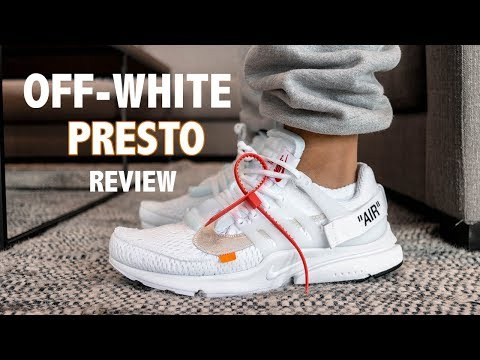 OFF WHITE NIKE AIR PRESTO WHITE ON FOOT REVIEW | A SNEAKER LIFE