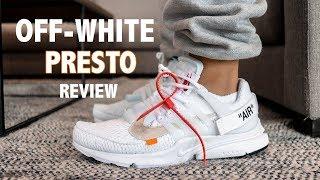 OFF WHITE NIKE AIR PRESTO WHITE ON FOOT