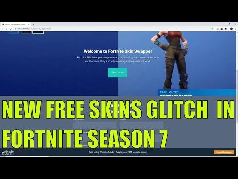 fortnite new free skins glitch in fortnite season 7 fortnite - fortnite skin glitch season 7