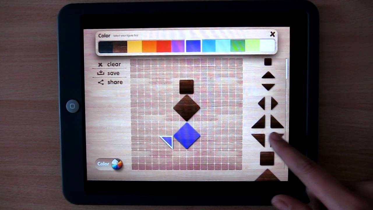 Tangram puzzle popular ipad app for children toddler for Paint color matching app