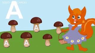Сказка про букву А Развивающие мультфильмы для самых маленьких Учим буквы буква А