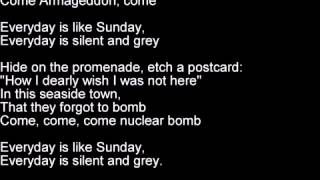 Morrissey   Everyday Is Like Sunday lyrics