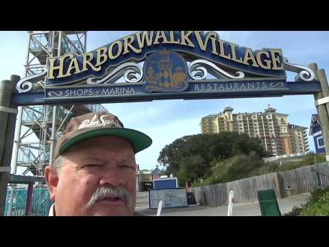 Walking the Boardwalk at the Harborwalk Village in Destin, F