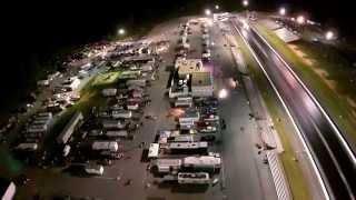 Maryland International Raceway Night Time Fly Over
