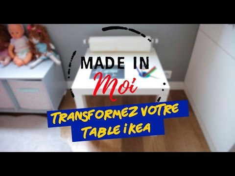 relooking meuble comment transformer une table ikea youtube. Black Bedroom Furniture Sets. Home Design Ideas
