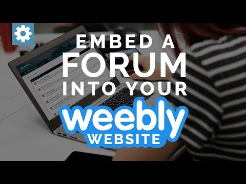 Embed a Forum into your Weebly website