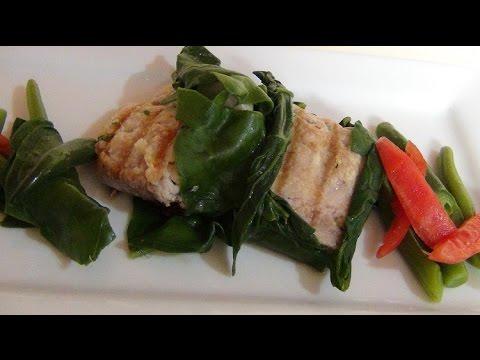 Receta de pescado con espinaca como preparar pescado con for Como cocinar pescado