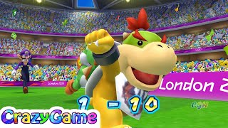 Mario & Sonic At the London 2012 Olympic Games - Team Yoshi, Daisy Play Football | CRAZYGAMINGHUB
