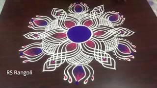 Latest unique padi  lotus kolam designs for Sankranthi festival || Margazhi kolam for Pongal muggulu