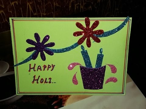 Easy Holi Card For Kids ब र न म न ह ल ह