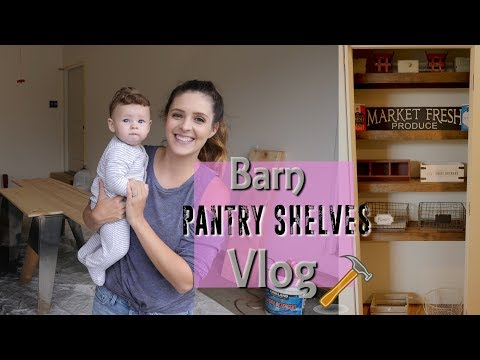 FARMHOUSE PANTRY SHELVES DIY