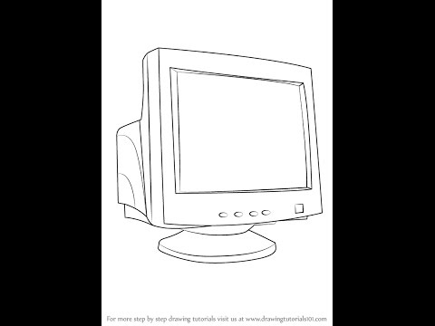how to draw a monitor