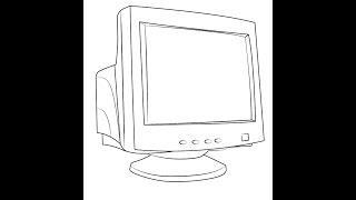 How to draw Computer Monitor