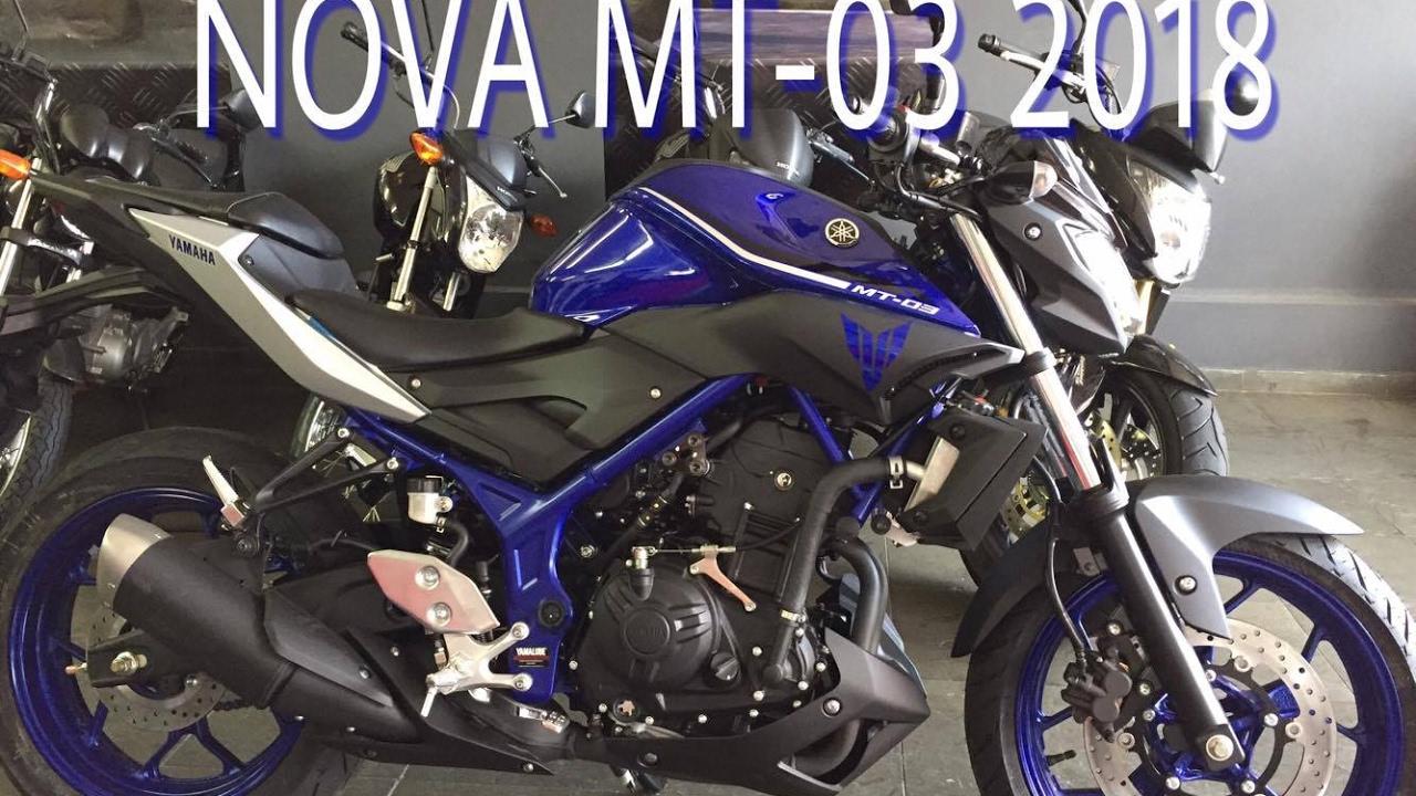YAMAHA MT-03 2018 NOVA COR AZUL - YouTube Yamaha Motors