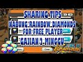 SHARING TIPS | PLAYER GRATISAN PANEN RAINBOW DIAMONDS  - OPBR INDONESIA