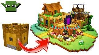 Minecraft Timelapse 3 Person Survival Base Build 5x5