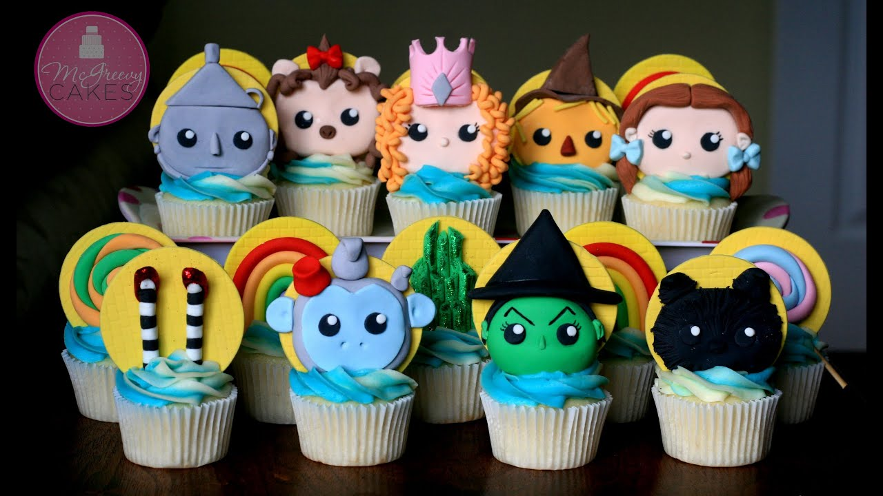 Cake Decorations For Wizard Of Oz : How to Make Wizard of Oz Cupcake Toppers; A McGreevy Cakes ...