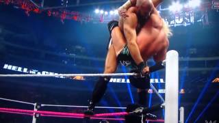 Cesaro superplex to Ziggler