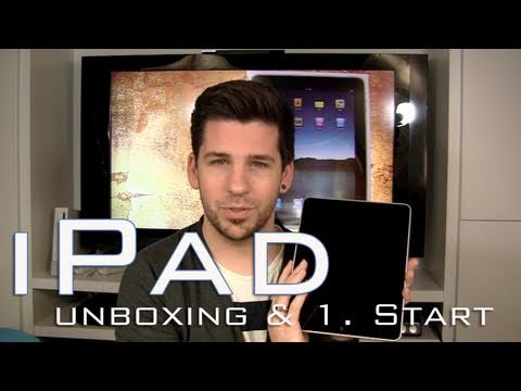 Apple iPad Unboxing & 1. Start / Deutsch