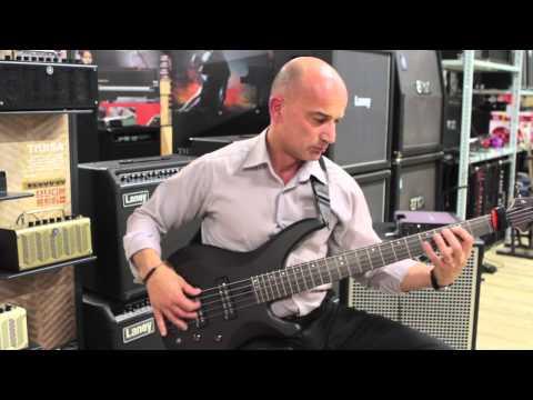 Simon Sammut with the new YAMAHA TRBX 505 electric bass guitar