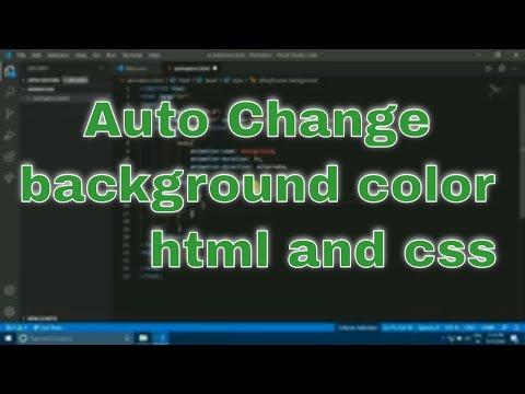HTML Background Color Change Animation  (हिंदी )