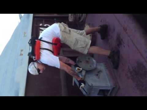 Towboat wire laying (fore & aft)