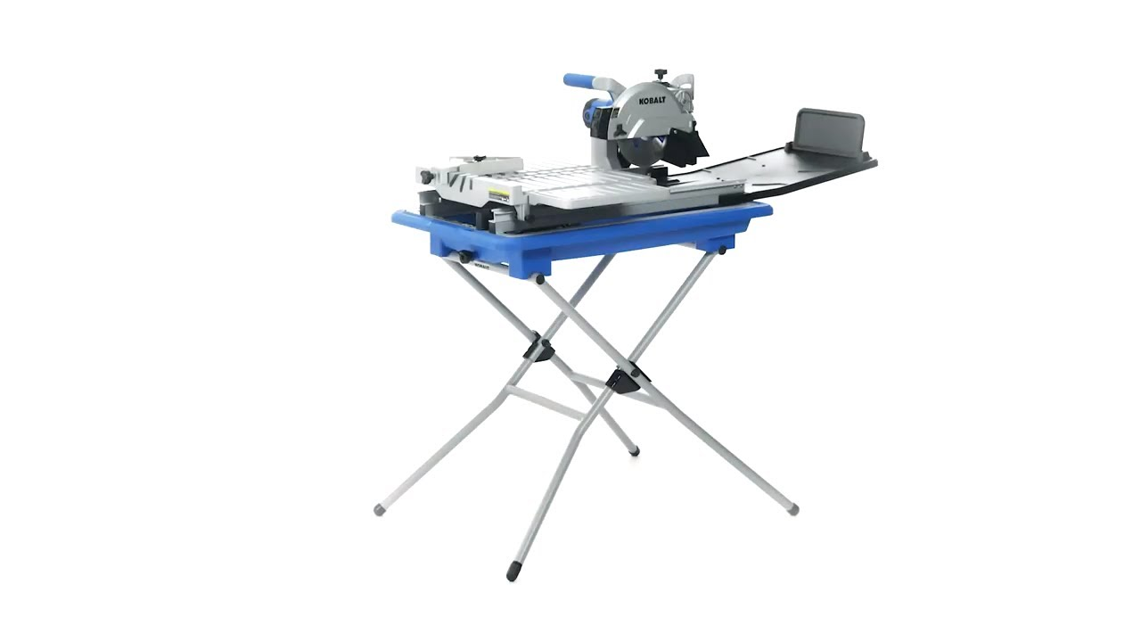 kobalt 7 in 1 6 wet tabletop sliding table tile saw with stand