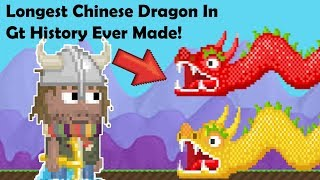 Growtopia - The Longest Chinese Dragon In Gt History!