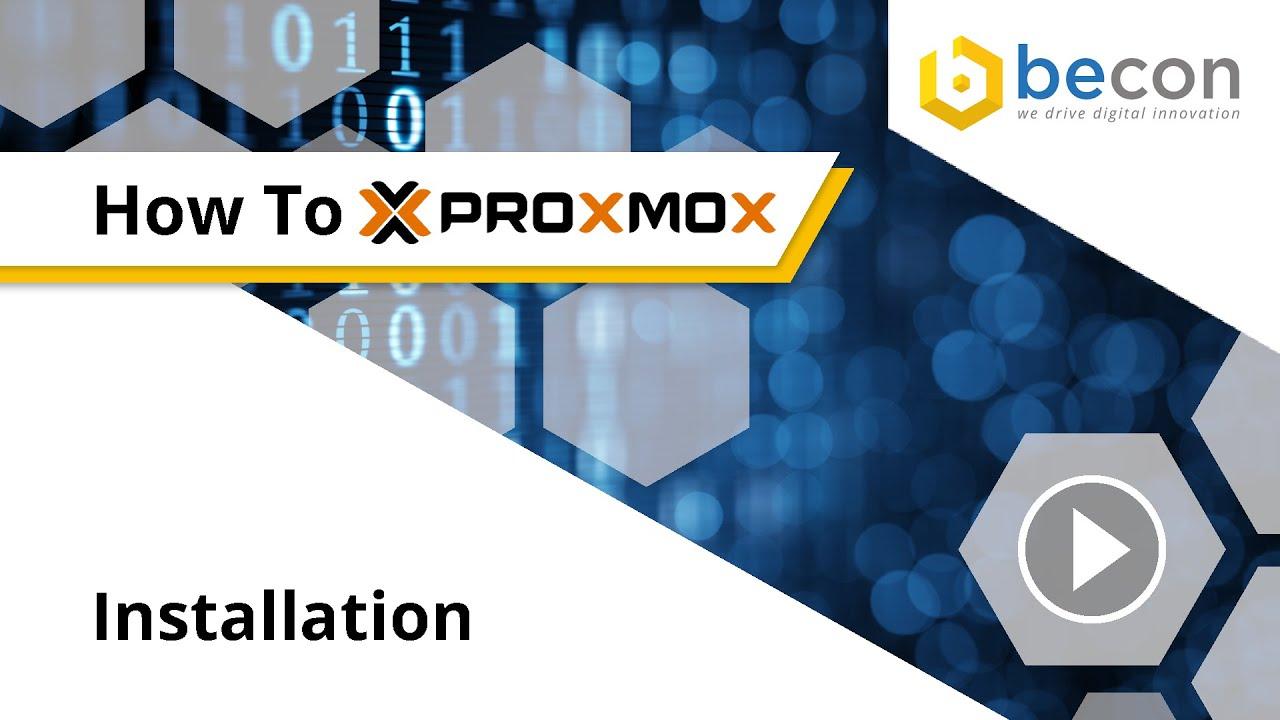 HowTo ProxmoxVE 5 4   Ceph Installation via WebGui   becon