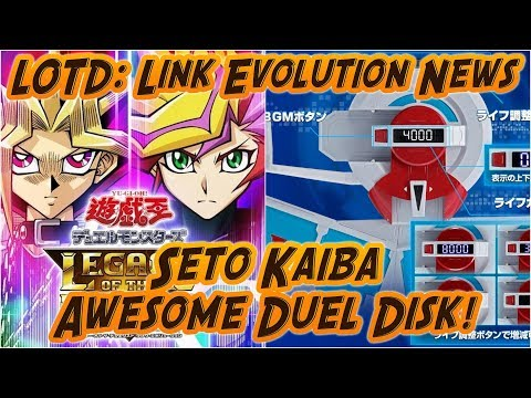 Yu-Gi-Oh LOTD: Link Evolution NEWS/WORLDWIDE RELEASE! ; Coolest Yugioh Merch ever!?