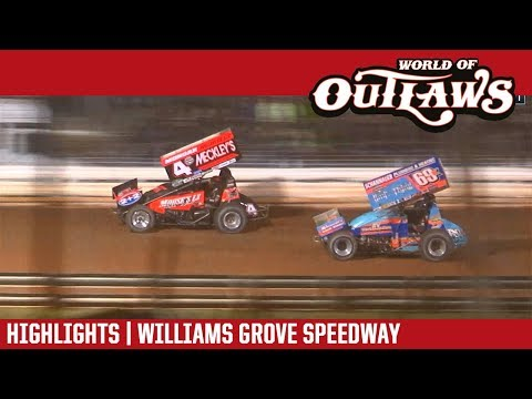 World of Outlaws Craftsman Sprint Cars Williams Grove Speedway September 29, 2018 | HIGHLIGHTS