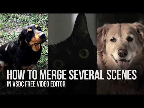 How to merge scenes in VSDC Free Video Editor