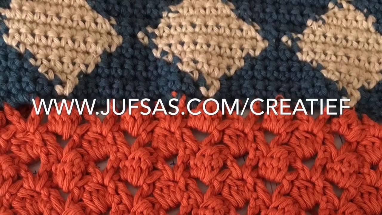 Patroon 2 Van Shawl Mix Match Handmade By Juf Sas Youtube