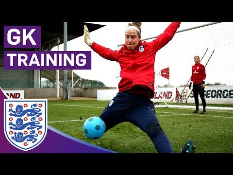 Great Shot-Stopping Blocks in Technical Drill   Goalkeeper Training   Lionesses