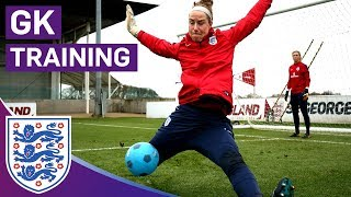 Great Shot-Stopping Blocks in Technical Drill | Goalkeeper Training | Lionesses