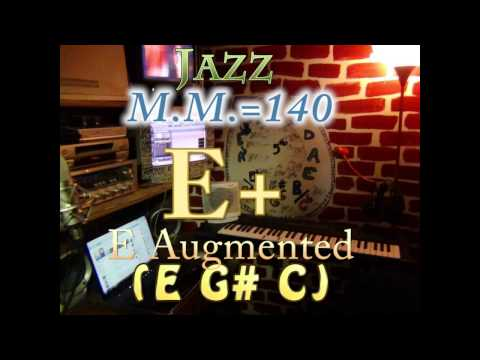 e augmented (e g# c) - jazz - m.m.=140 - one chord backing track